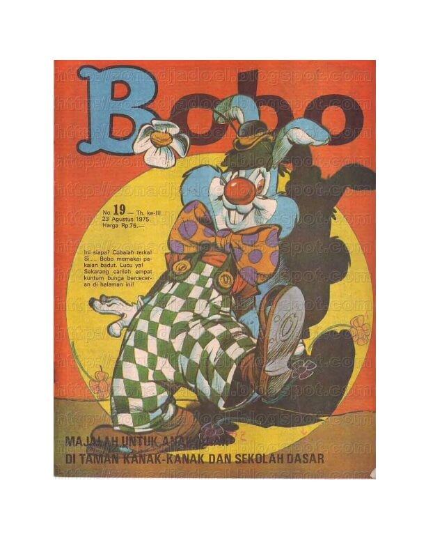 Majalah Bobo Digital: No 19 Tanggal 23 Agustus 1975