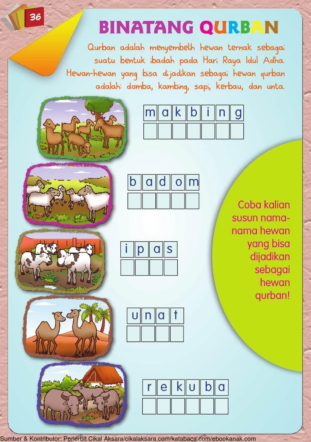 Buku Pintar Aktivitas Anak Shaleh Binatang Qurban 37
