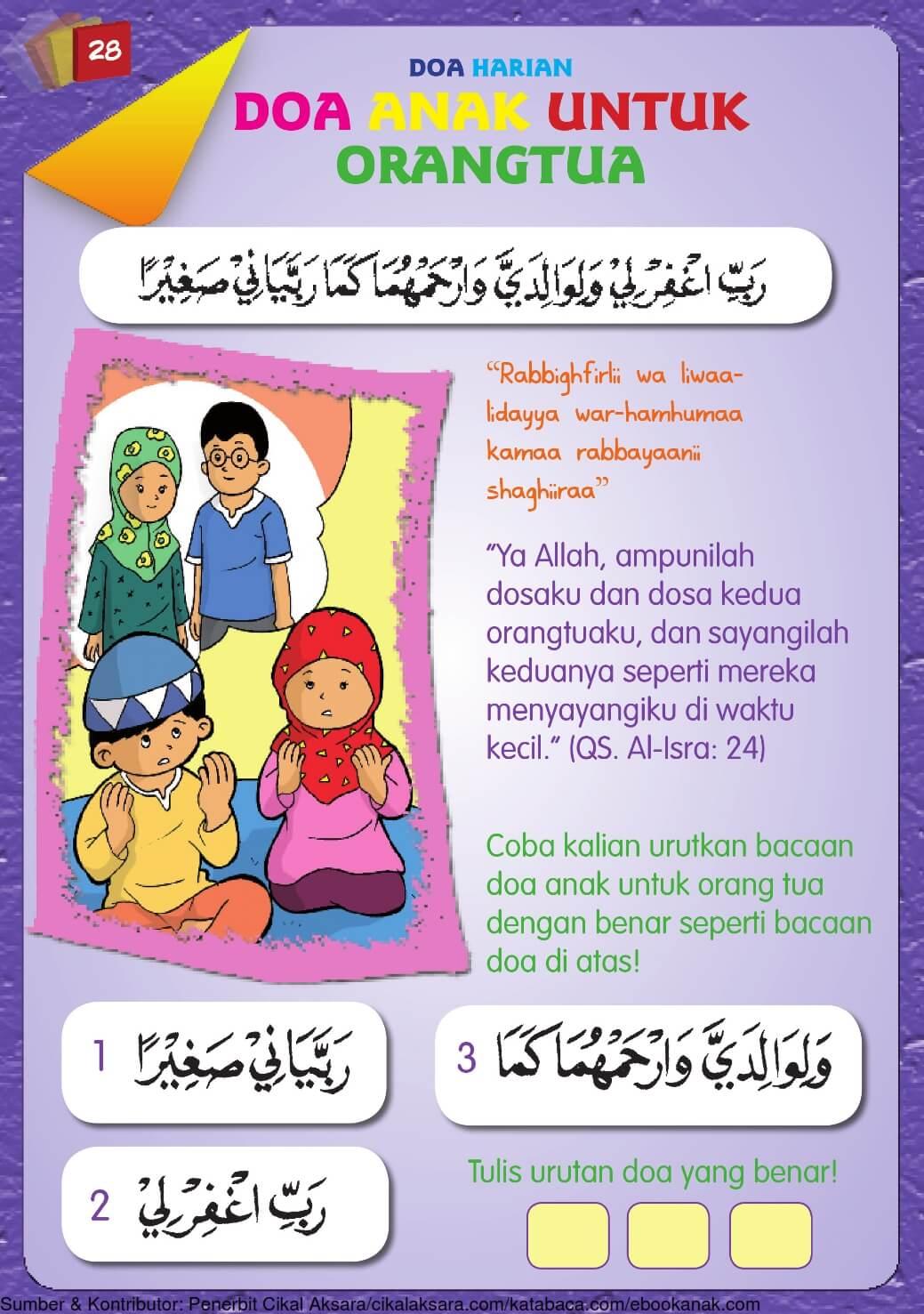 Buku Pintar Aktivitas Anak Shaleh, Doa Anak untuk Orang ...
