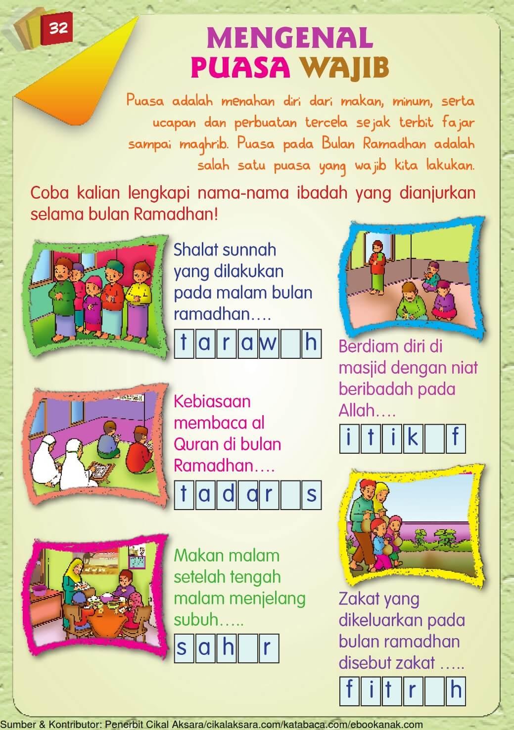 15 Buku Pintar Aktivitas Anak Shaleh, Mengenal Puasa Wajib 20 ...