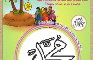 Buku Pintar Aktivitas Anak Shaleh, Mewarnai Kata Muhammad (52)