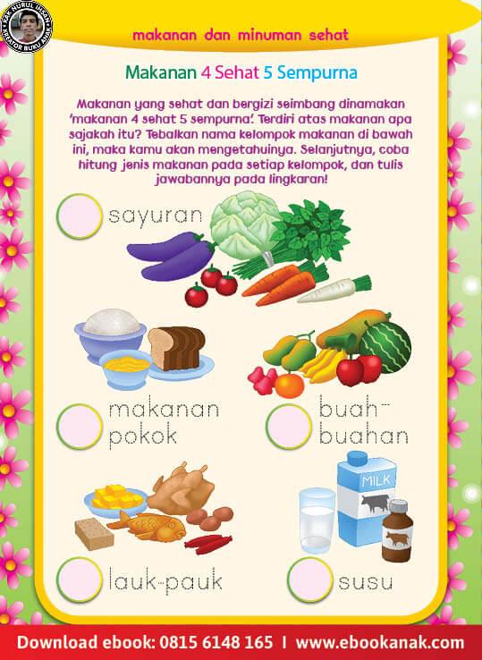 Ebook Pintar Aktivitas TK A-B: Makanan Sehat