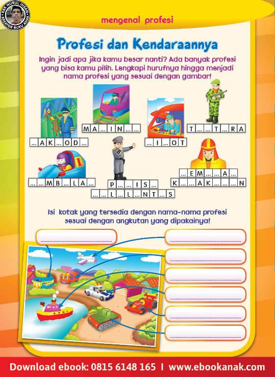 Ebook Pintar Aktivitas TK A-B: Mengenal Profesi