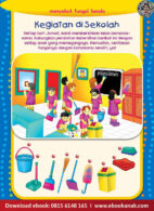 Ebook Pintar Aktivitas TK A-B: Menyebut Fungsi Benda di Sekolah