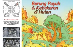 Cerita Bergambar Relief Candi Borobudur Burung Puyuh dan Kebakaran Hutan