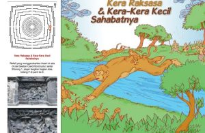 Cerita Bergambar Relief Candi Borobudur Kera Raksasa dan Kera-Kera Kecil Sahabatnya
