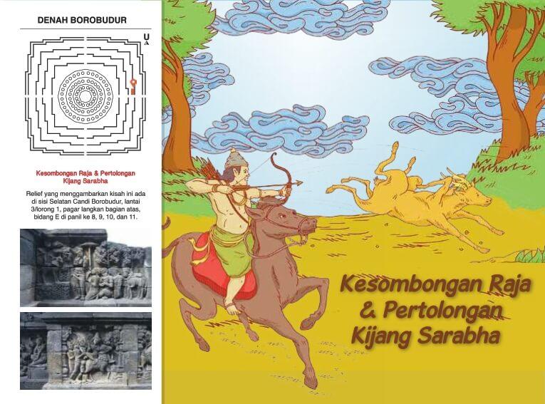 Cerita Bergambar Relief Candi Borobudur Kesombongan Raja dan Pertolongan Kijang Sarabha
