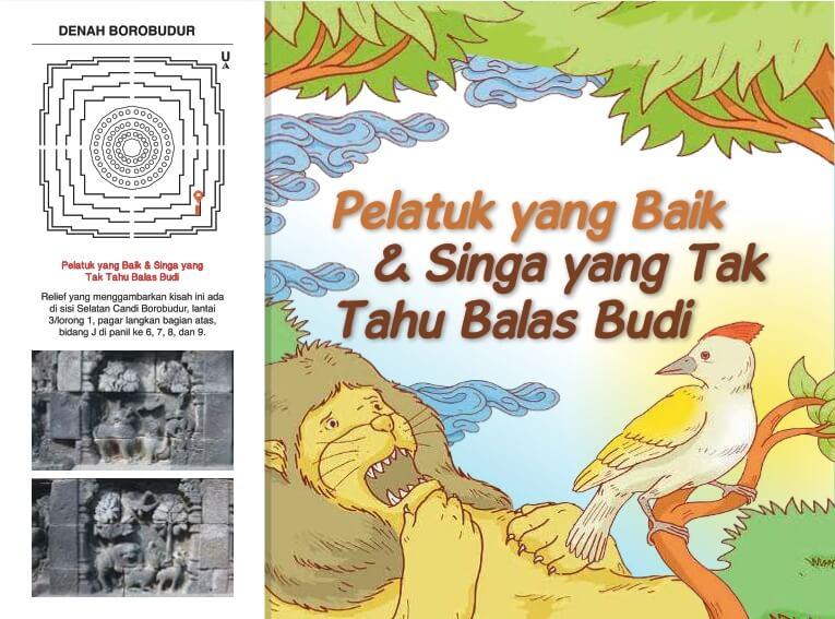 Cerita Bergambar Relief Candi Borobudur, Pelatuk yang Baik dan Singa yang Tak Tahu Balas Budi