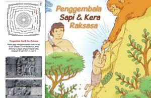 Cerita Bergambar Relief Candi Borobudur, Penggembala Sapi dan Kera Raksasa