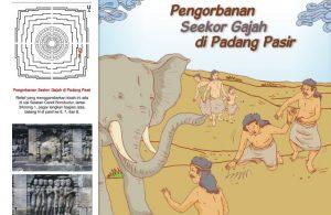 Cerita Bergambar Relief Candi Borobudur Pengorbanan Seekor Gajah di Padang Pasir