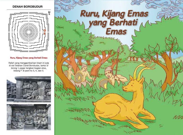 Cerita Bergambar Relief Candi Borobudur Ruru, Kijang Emas yang Berhati Emas