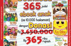 Download 365 Ebook Anak Legal dan Printable dengan Donasi 365 Ribu Rupiah