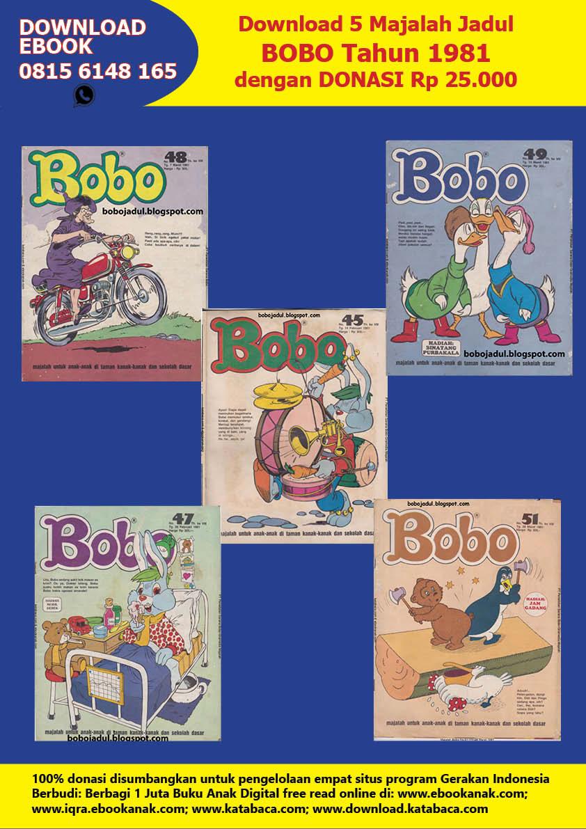 Download 5 Majalah Jadul Bobo tahun 1981