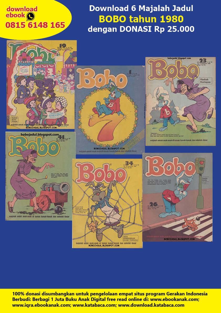 Download 6 Majalah Jadul Bobo tahun 1980