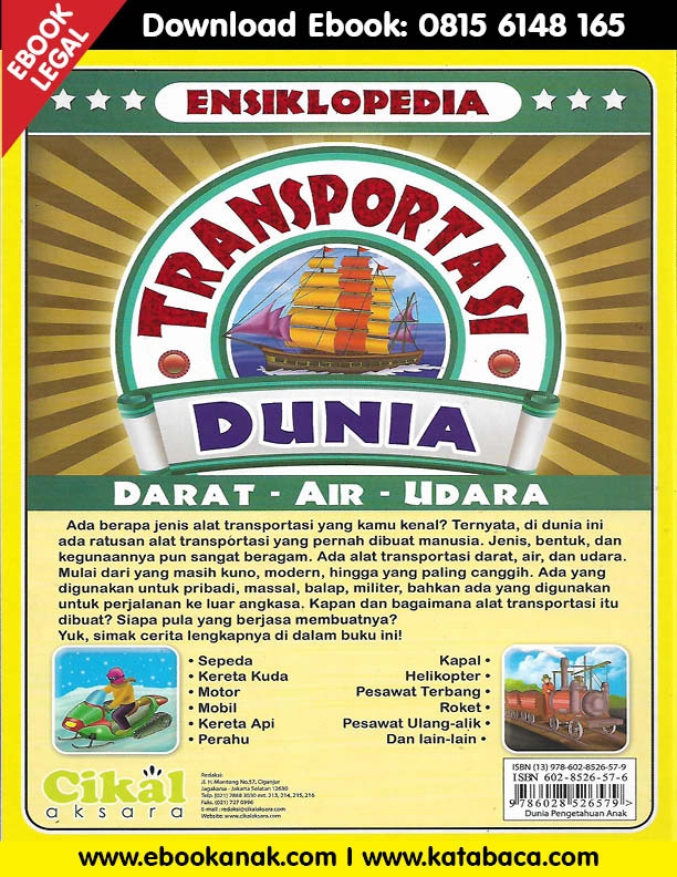 Download Ebook Ensiklopedia Transportasi Dunia Darat, Air,Udara2