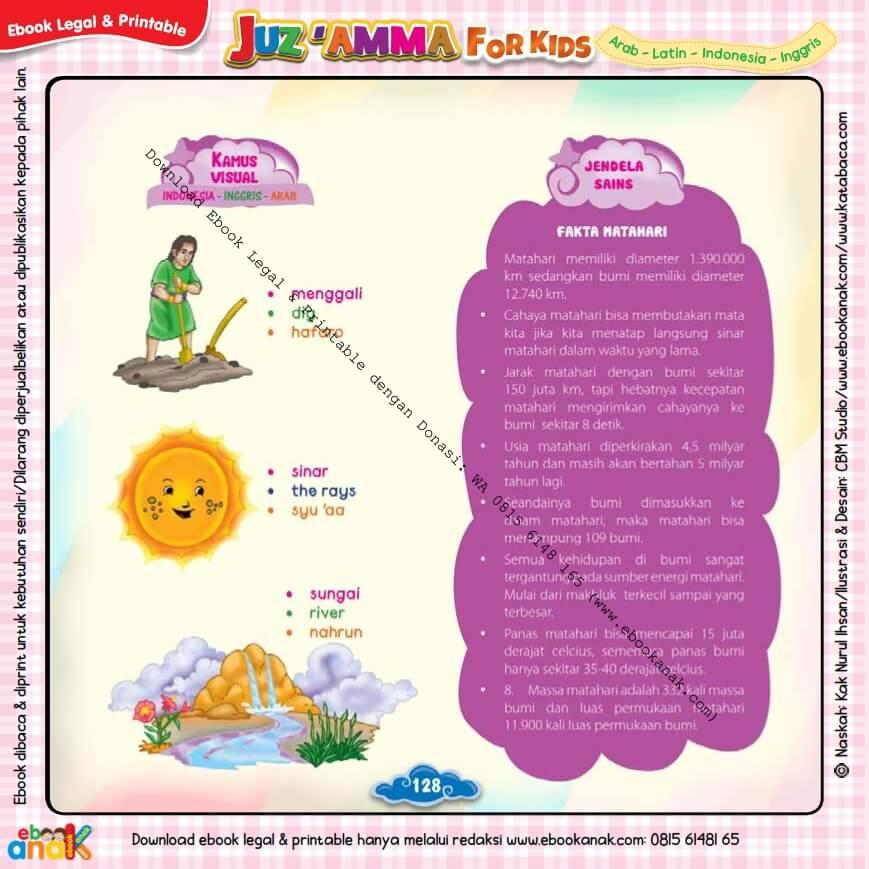 Download Ebook Legal dan Printable Juz Amma for Kids, Fakta Matahari