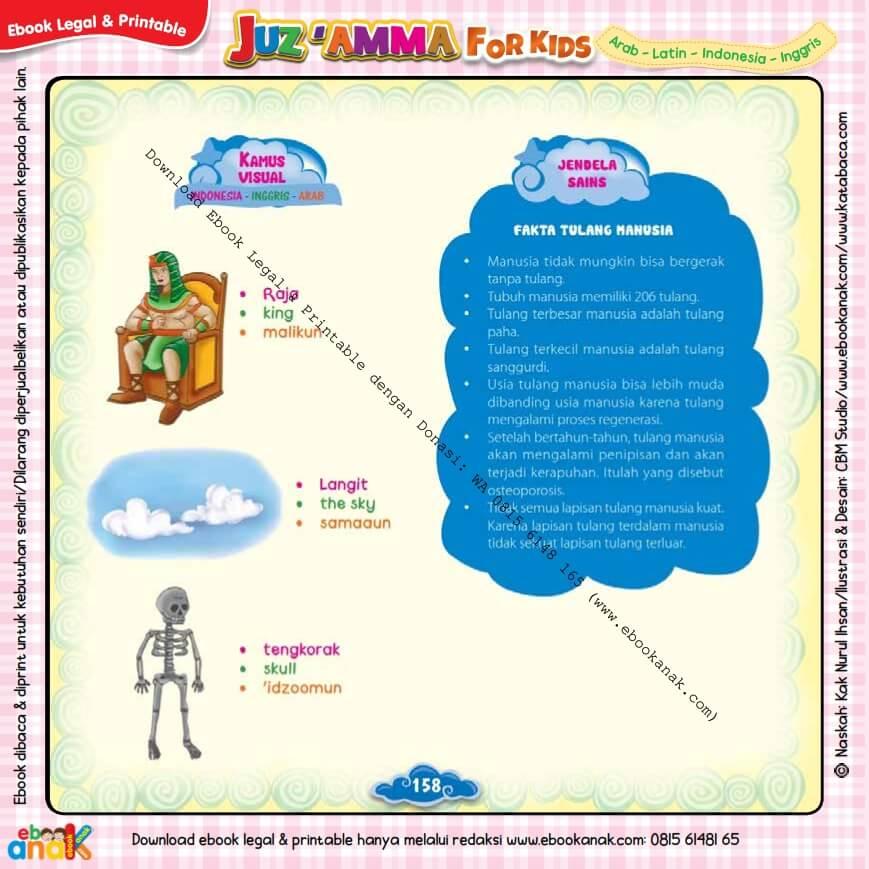 Download Ebook Legal dan Printable Juz Amma for Kids, Fakta Tulang Manusia