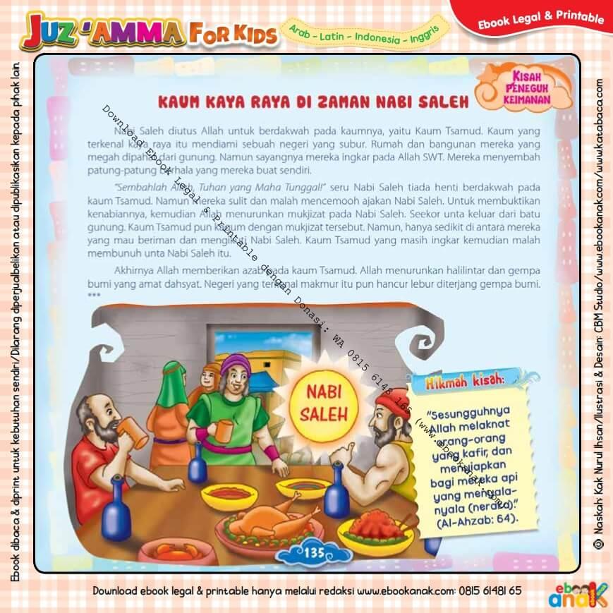Download Ebook Legal dan Printable Juz Amma for Kids, Kaum Kaya Raya di Zaman Nabi Saleh