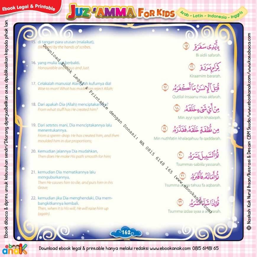 Download Ebook Legal dan Printable Juz Amma for Kids, Surat ke-80 Abasa (3)