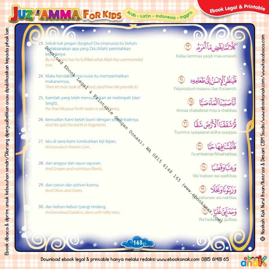 Download Ebook Legal dan Printable Juz Amma for Kids, Surat ke-80 Abasa (4)
