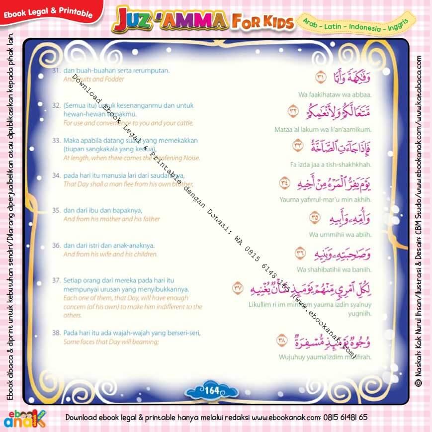 Download Ebook Legal dan Printable Juz Amma for Kids, Surat ke-80 Abasa (5)