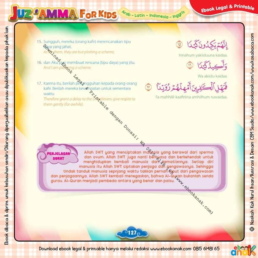 Download Ebook Legal dan Printable Juz Amma for Kids, Surat ke-86 At-Thariq (3)