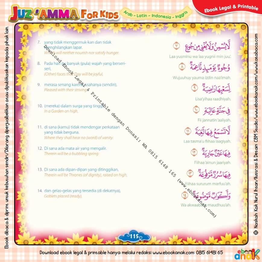 Download Ebook Legal dan Printable Juz Amma for Kids, Surat ke-88 Al-Ghasyiyah (2)