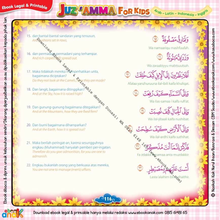 Download Ebook Legal dan Printable Juz Amma for Kids, Surat ke-88 Al-Ghasyiyah (3)