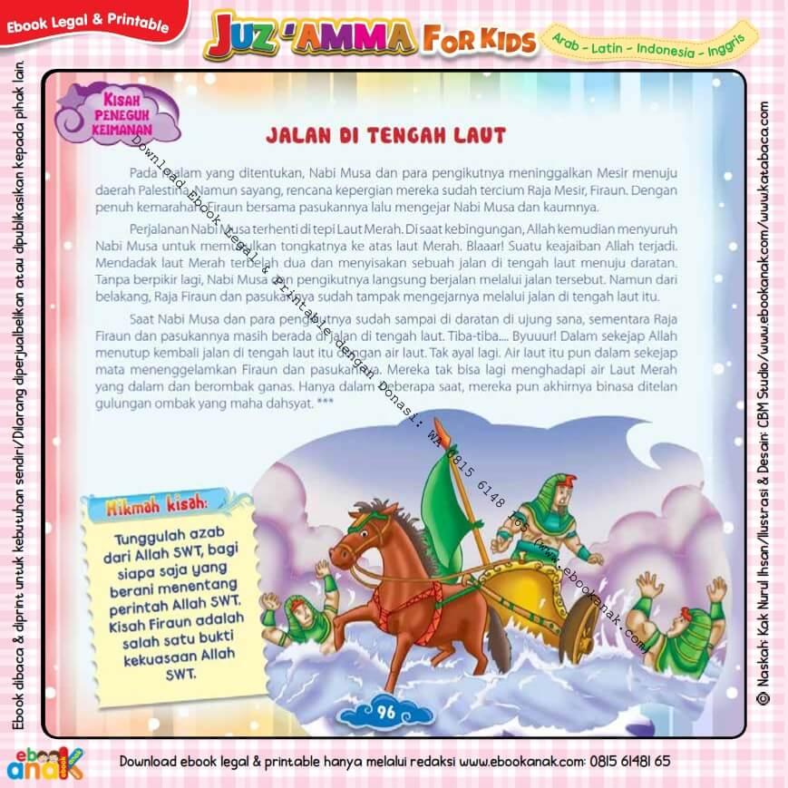 Download Ebook Printable Juz Amma for Kids, Jalan di Tengah Laut
