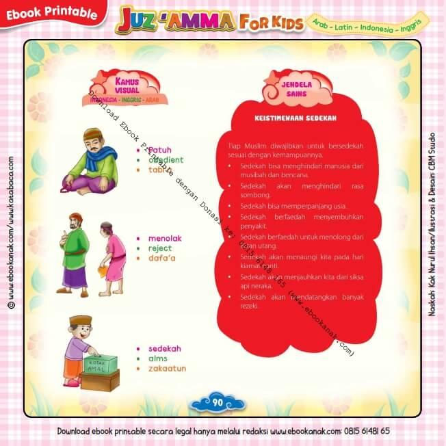 Download Ebook Printable Juz Amma for Kids, Keistimewaan Sedekah