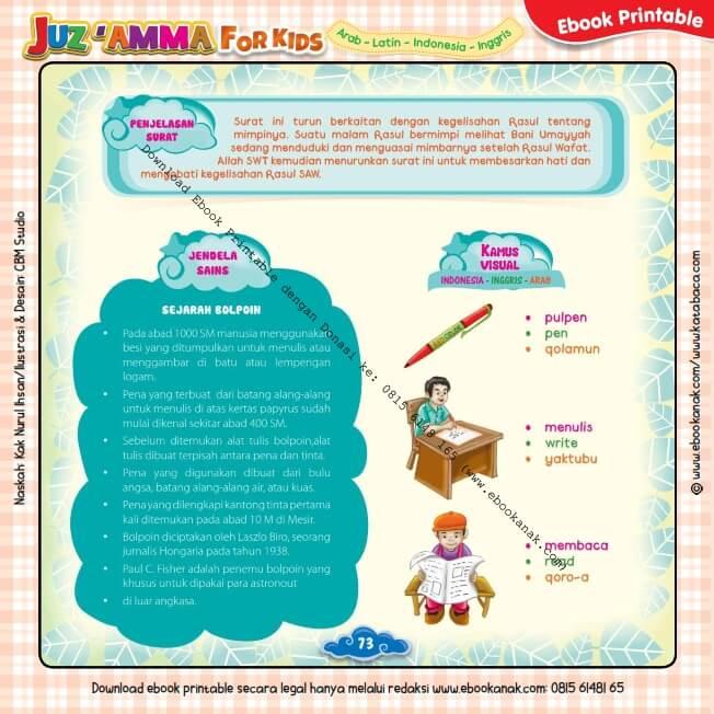 Download Ebook Printable Juz Amma for Kids, Sejarah Bolpoin