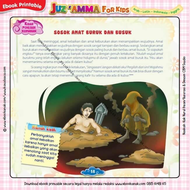 Download Ebook Printable Juz Amma for Kids, Sosok amat Buruk dan Busuk