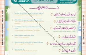 Download Ebook Printable Juz Amma for Kids, Surat ke-107 Al Maa'un