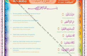 Download Ebook Printable Juz Amma for Kids, Surat ke-78 An-Naba