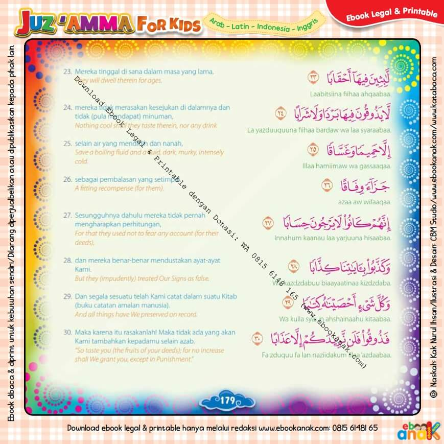 Download Ebook Printable Juz Amma for Kids, Surat ke-78 An-Naba (4)