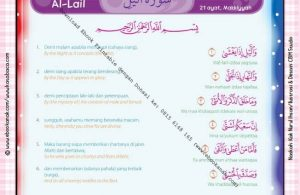 Download Ebook Printable Juz Amma for Kids, Surat ke-92 Al-Lail
