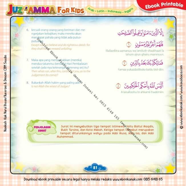 Download Ebook Printable Juz Amma for Kids, Surat ke-95 At-Tiin (2)