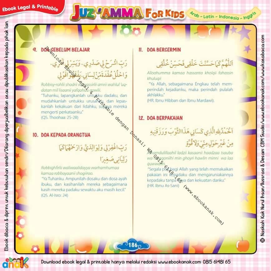 Download Ebook legal dan Printable Juz Amma for Kids, Doa Harian Anak Muslim 4