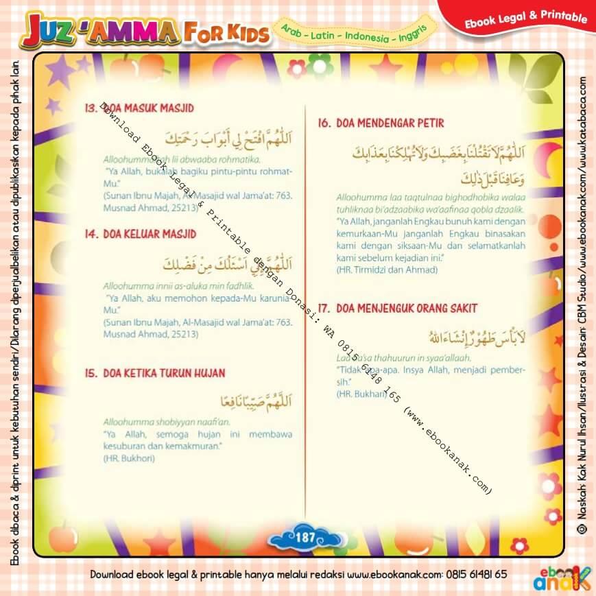 Download Ebook legal dan Printable Juz Amma for Kids, Doa Harian Anak Muslim 5