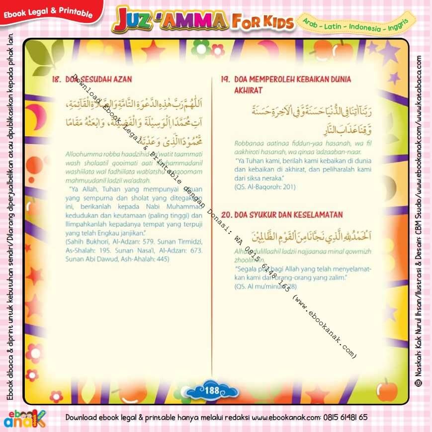 Download Ebook legal dan Printable Juz Amma for Kids, Doa Harian Anak Muslim 6