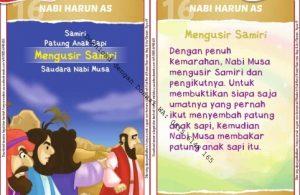 Download Kartu Kuartet Printable Kisah 25 Nabi dan Rasul, Nabi Harun Kecewa dengan Samiri (64)