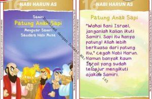 Download Kartu Kuartet Printable Kisah 25 Nabi dan Rasul, Nabi Harun dan Patung Anak Sapi (63)