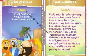 Download Kartu Kuartet Printable Kisah 25 Nabi dan Rasul, Nabi Harun dan Samiri (62)