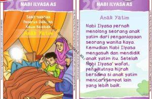 Download Kartu Kuartet Printable Kisah 25 Nabi dan Rasul, Nabi Ilyasa dan Anak Yatim (81)