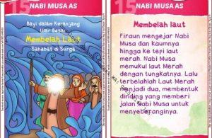 Download Kartu Kuartet Printable Kisah 25 Nabi dan Rasul, Nabi Musa Membelah Laut (60)