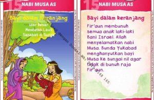 Download Kartu Kuartet Printable Kisah 25 Nabi dan Rasul, Nabi Musa dan Bayi dalam Keranjang (58)
