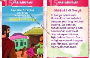 Download Kartu Kuartet Printable Kisah 25 Nabi dan Rasul, Nabi Musa dan Sahabat di Surga (61)