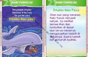 Download Kartu Kuartet Printable Kisah 25 Nabi dan Rasul, Nabi Yunus Ditelan Ikan Paus (85)