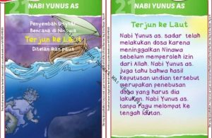 Download Kartu Kuartet Printable Kisah 25 Nabi dan Rasul, Nabi Yunus Terjun ke Laut (84)