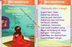 Download Kartu Kuartet Printable Kisah 25 Nabi dan Rasul, Nabi Zakariya Melihat Makanan dari Langit (87)
